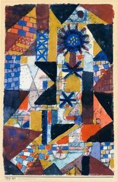 Paul Klee - Dächerblume (Rooftop flower), 1919