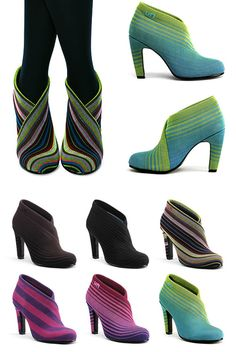 "colourful and unconventional ""united nude"" shoes"