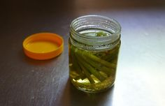Pickled kale stems |