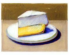 Title: Lemon Meringue Pie Artist: Wayne Thiebaud Completion Date: 1964 Style: Pop Art Wayne Thiebaud Cakes, Wayne Thiebaud Paintings, Pop Art, Food Sculpture, Food Painting, Cake Painting, Lemon Meringue Pie, Principles Of Art, Arte Popular