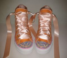 Infant  Rainbow Bling converse in your choice by CurlyQsandTutus, $70.00