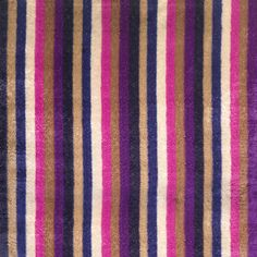 Matthew Williamson's love of colour, pattern and texture has been paired with Osborne & Little's savoir faire in furnishing fabrics and wallpaper for home interior decoration. Soft-edged stripes are printed in bold colours, on a richly textured velvet ground enlivened with metallic yarn to create a truly glamorous fabric for upholstery.