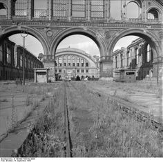 Anhalter Bahnhof 1955  #Berlin  source: Bundesarchiv, Brodde