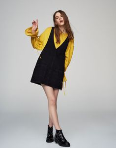 Sleeveless denim dress - Dresses - Clothing - Woman - PULL&BEAR Indonesia