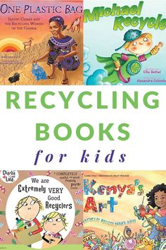 A great list of children's books about recycling to use for Earth Day or any day. Get this printable list to take to the library. #recycling #EarthDay #booklist #booksforkids #GrowingBookbyBook #environment