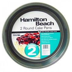 Hamilton Beach Set of 2 NonStick Round 9 Cake Pans *** You can get additional details at the image link. (This is an affiliate link) #CakePans