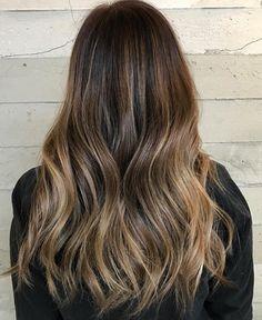 Dark brunette with subtle bayalage ombré