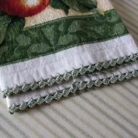 How-To: Easy Crochet Edging on a Tea Towel