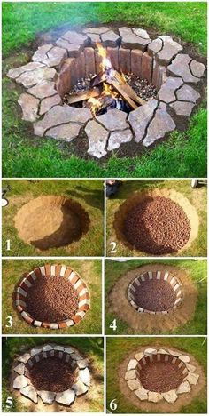 Rustikale DIY-Feuerstelle, DIY-Hinterhof-Projekte und Gartenideen, Hinterhof-DIY-Ideen mit kleinem Budget Rustic DIY Fire Pit, DIY Backyard Projects and Garden Ideas, Backyard DIY Ideas on a Budget – House Decoration How To Build A Fire Pit, Diy Fire Pit, Building A Fire Pit, Building Plans, Fire Pit Bench, Cheap Fire Pit, Cool Fire Pits, Cheap Pool, Front Yard Landscaping