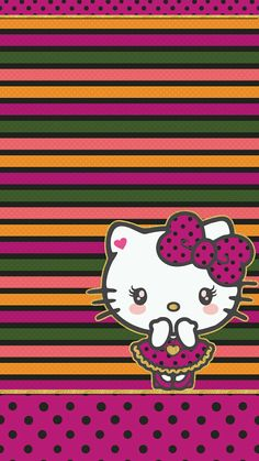 #hello_kitty #floral #wallpaper #iphone