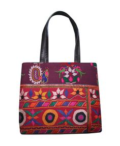 6dc3c782ec Old vintage peacock banjara tribal bohemian ethnic hand patch work shopping  bag