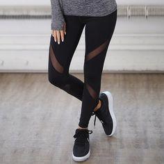 C/&H Women Sport Stretch Side Pocket Pure Color Yoga Skinny Pants Legging