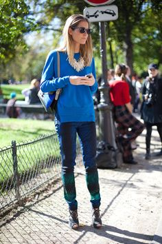 STREET STYLE SPRING 2013: PARIS FASHION WEEK - In the French bohemian manner of style this girl gets it right.