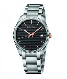 CALVIN KLEIN Alliance Black Dial with Rose Gold-tone accents Watch