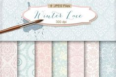 New Freebies Kit of Backgrounds - Winter Lace
