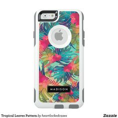 Tropical Leaves Pattern OtterBox iPhone 6/6s Case