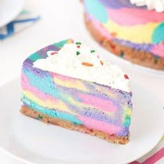 No-Bake Unicorn Cheesecake?! Magical!