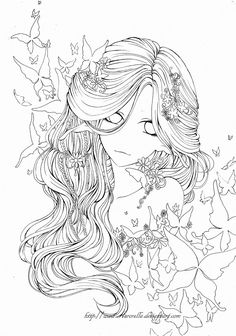 Butterfly Dream Outlines by ~Aurorella on deviantART- chica, mariposas