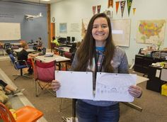 Combining math skills and PBL - Kuna Middle School eighth-grader Maryn Petersen worked on a project this year studying genocides and created a model of a memorial to honor victims.