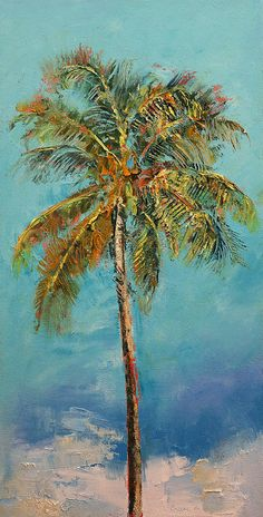 Palm Tree Painting by Michael Creese