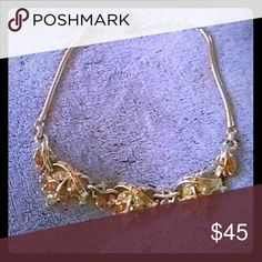 Golden marqiuse neclace One size yellow diamond cut AGB Jewelry Necklaces