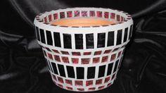 New Terracotta Handmade Mosaic Flower Pot/Planter by NKRNmosaics, $30.00