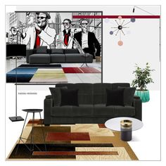 """Urban Living It's a Jazz band"" by rainie-minnie ❤ liked on Polyvore featuring interior, interiors, interior design, home, home decor, interior decorating, Heathfield & Co., George Nelson, JAG Zoeppritz and modern"