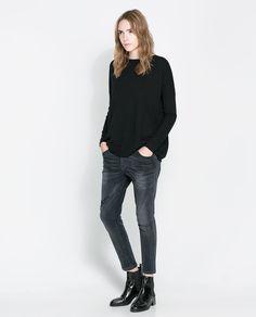 Imagen 1 de JERSEY CUELLO BARCO de Zara 9,95€ negro, rosa, azul, gris, beige
