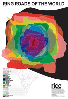 """Ring Roads of the World"" ~Rice School of  Architecture map"