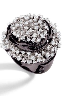 {Daily Jewel}-Diamond and Black Gold Ring - Haute Tramp