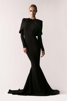 4c56495adb2e2 MaySociety — Michael Costello Fall/Winter 2016 Michael Costello, Black  Wedding Dresses, Fantasy