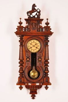 Antique Junghans Keyhole Wall Clock Approx 1900
