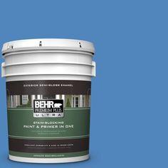 BEHR Premium Plus Ultra 5-gal. #570B-6 Handsome Hue Semi-Gloss Enamel Exterior Paint