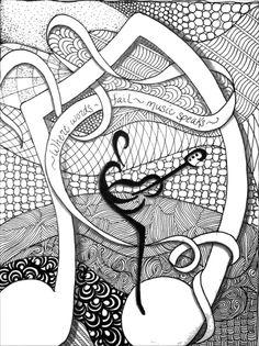 Dibujos para colorear para adultos Musica