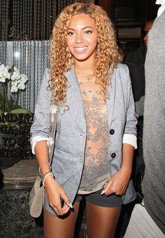 Beyonce in Nicole Miller