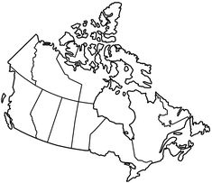 Canada Has Lots Of Forests Lots Of Grasslands Lots Of Rolling - Blank map of canada with great lakes