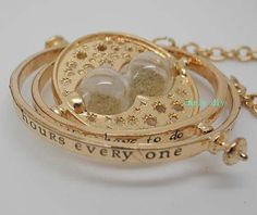 Harry Potter time turner necklace Hermione Granger 18k Yellow plated, girlfriend gift, boutique necklace on Etsy, $1.59