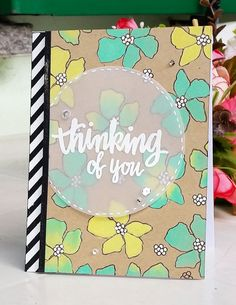 Thinking of you floral card Simon Says Stamp Arful Flowers