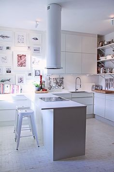 Bright and white Swedish kitchen by Mood House