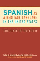 """""""We have been waiting for a book like this for a long time. It is a must-read for all of us who care about Spanish as a heritage language in the United States.""""—Joy Kreeft Peyton, Alliance for the Advancement of Heritage Languages, Center for Applied Linguistics, Washington, DC"""