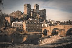 Runkel Castle above the Lahn, Germany