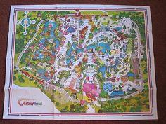 1977 Astroworld Map Houston Texas Amusement Park Theme Park Map Marvel McFey