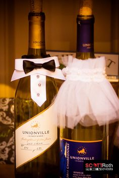 Bride & Groom Wedding Wine Bottles    Old York Cellars / Unionville Vineyards NJ by Scott Roth Events, via Flickr