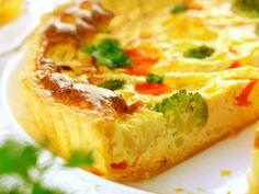 Gemüsequiche  Heute ist das Lieblingsrezept meine 'Großen' dran. Sie liebt Gemüsequiche über alles. Die 'Kleine' hält sich eher an den knusprigen Rand, den Boden und die Käsekruste, sortiert aber alles war ihr zu gesund erscheint (Gemüse) an den Tellerrand.  http://einfach-schnell-gesund-kochen.de/gemuesequiche/