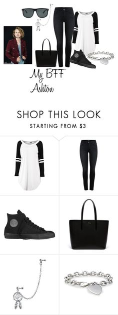 """""""My BFF Ashton"""" by metteaadahl on Polyvore featuring Converse, Lacoste, Bling Jewelry, Blue Nile and Ray-Ban"""