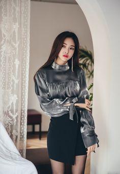Silver velvet blouse