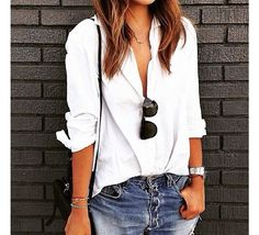 Jeans and white shirt