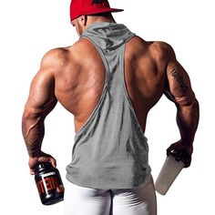 0c8fbd26f8f44 Amazon.com  JoofEric Men s Bodybuilding Athletic Sleeveless Hoodies Workout  Muscle Gym Tank Tops  Clothing