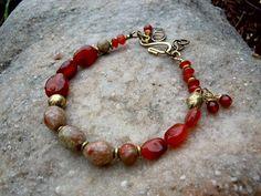 Bohemian Bracelet / Gypsy Jewelry / Trade Beads / by Syrena56, $34.00
