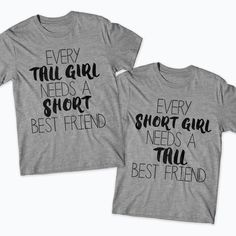 a8af2c49c Short Friend  Tall Friend Shirt Set